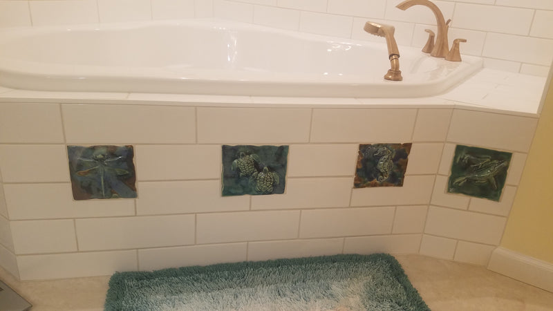 Whale Bathroom Art, Whale Bathroom Sink, Tropical Bathroom Decor, Bathroom Sink 18x5.5 $695.00 V21