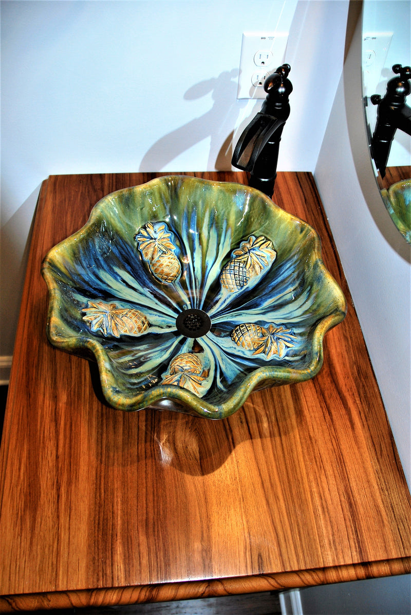 "Maui Gold Pineapple Sink 18.5""x5.5"" CS30"