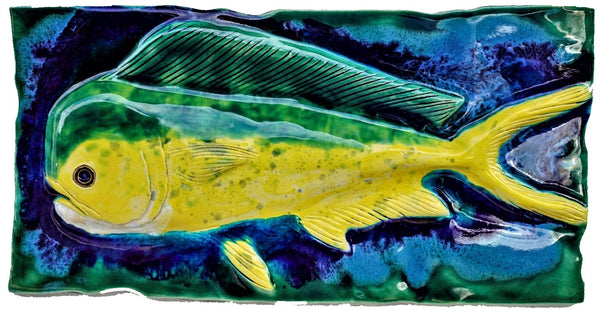 "Mahi Mahi Backsplash Wall Art 10""x19"" MP33 $395.00"