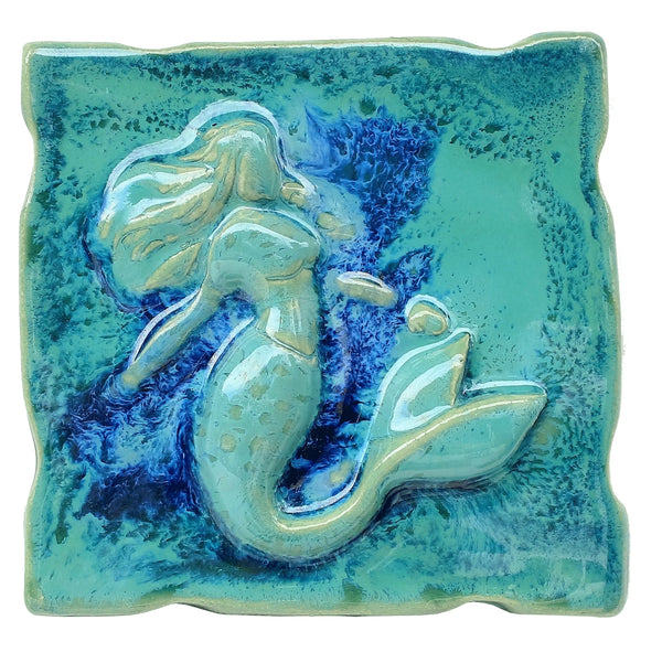 "Backsplash Tile Mermaid Design 6""x6"" TP46"