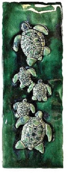 Tropical Ceramic Green Sea Turtle Decor - Maui Ceramics