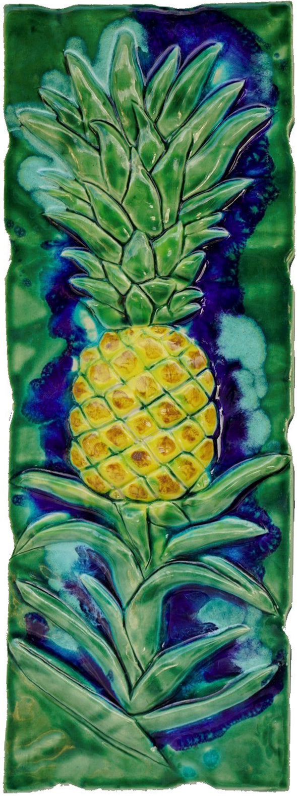 "Ceramic Pineapple Design Tile for Kitchen Backsplash, Bathroom Tile 8.5""x22"" $595.00 LP43"