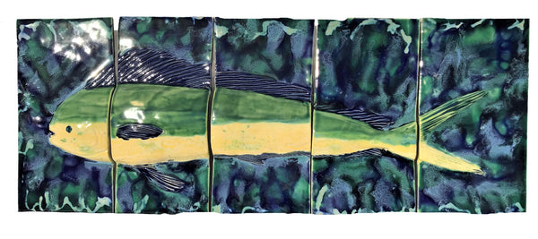 Hawaii Dolphin known in Hawaii as Mahi Mahi, Five Panel - Maui Ceramics