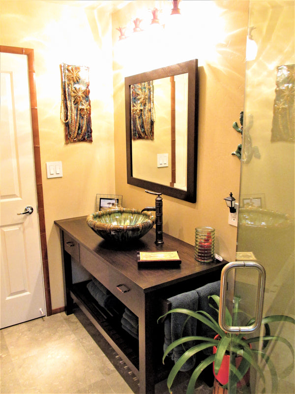 Ceramic Above Vessel Sink, Double Vanity Sink, Modern Bathroom Porcelain Sink - Maui Ceramics