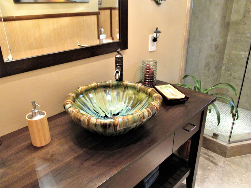 Ceramic Above Vessel Sink, Double Vanity Sink, Modern Bathroom Porcelain Sink 18x5.5 $1,995.00 SI87