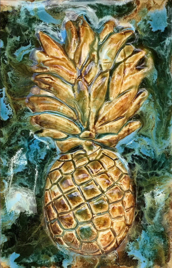 "Kitchen Plaque Pineapple 7""x10"" SP14"