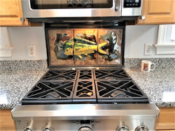 "Kitchen Backsplash ""Mahi Mahi Fish"" - Maui Ceramics"
