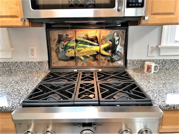 "Kitchen Backsplash ""Mahi Mahi Fish"" 28"" x 15 ¼"" LP22"