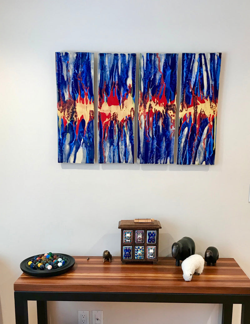 abstract décor, abstract art, abstract wall art, abstract art, Hawaiian abstract art, Hawaiian décor, Hawaiian abstract wall art, Hawaii décor, abstract art, pineapple decor, abstract wall art, abstract tropical art, wall art, bathroom tile, shower tile, kitchen tile, pool tile,