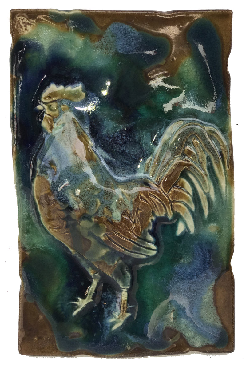 "Bathroom Tile Rooster Design 7""x10"" SP63 $120.00"