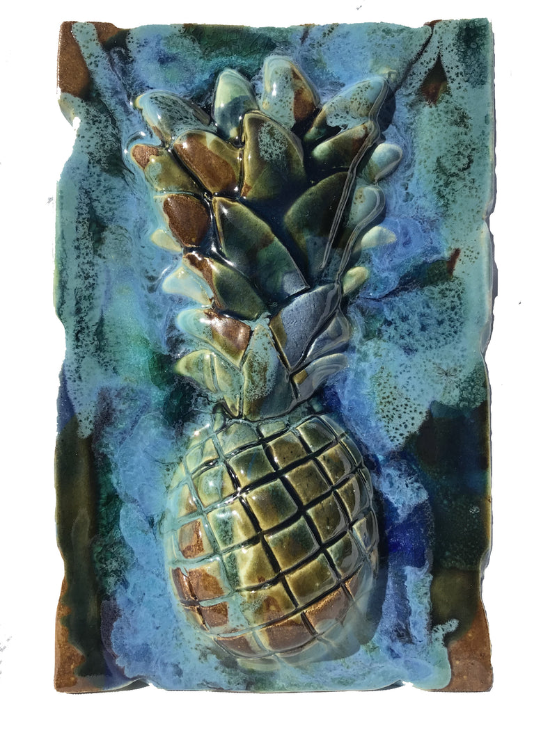 Ceramic Pineapple Design Tile for Kitchen Backsplash, Bathroom Pineapple Tile