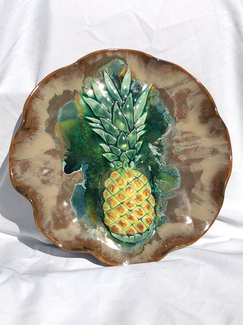 Kitchen Serving Platter Pineapples - Maui Ceramics