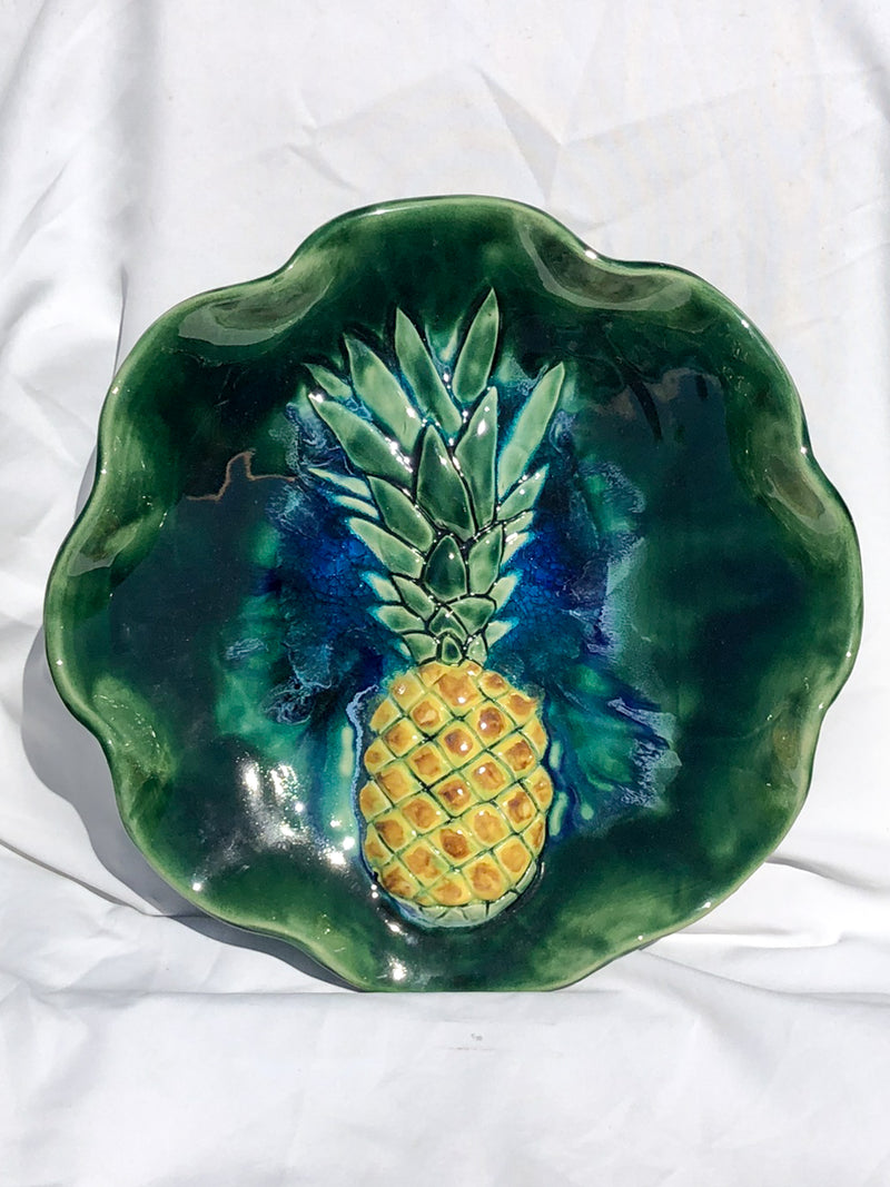 Kitchen Serving Platter Pineapples 2.5″ x 16″ B25