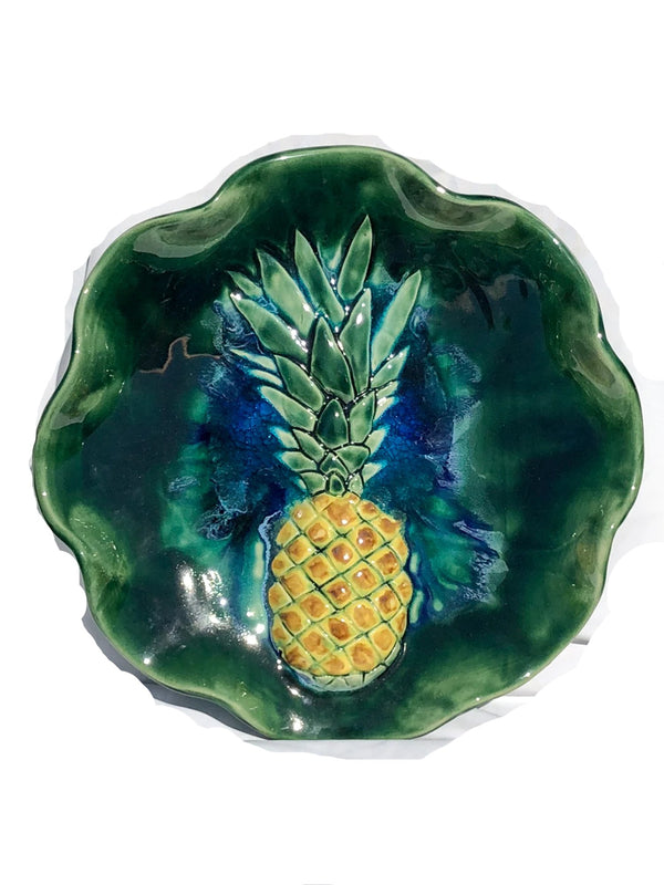 Ceramic Sweet Maui Pineapple Wall Hanging, Pineapple Platter 3″x19″ $495.00 B19