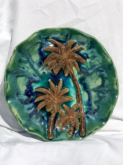 Maui Swaying Palm Trees Ceramic Wall Hanging, Palm Trees Wall Decor - Maui Ceramics
