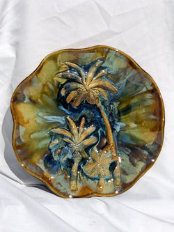 Ceramic Palm Trees Wall Hanging, Ceramic Palm Trees Wall Art, Palm Trees Kitchen Backsplash, Palm Trees Décor, Palm Trees Modern Art,  Tropical Palm Trees Décor, Maui Swaying Palm Trees, Hawaiian Palm Trees Art, Palm Trees Wall Decor, Maui Palm Trees Wall Art, Hawaii  Palm Trees Art, Maui Ceramic Palm Trees, Palm Trees Contemporary Art
