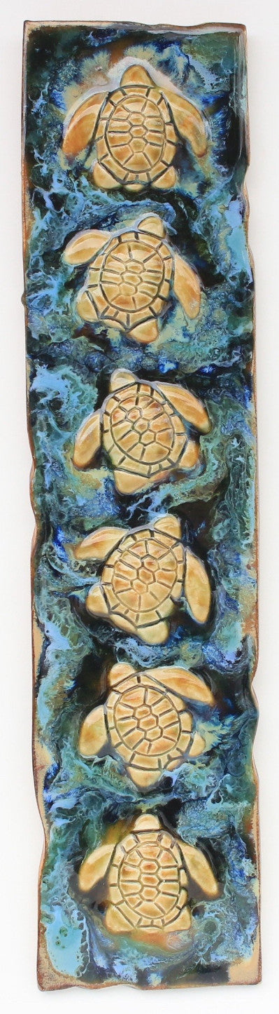 Maui Green Sea Turtle Wall Decor - Maui Ceramics
