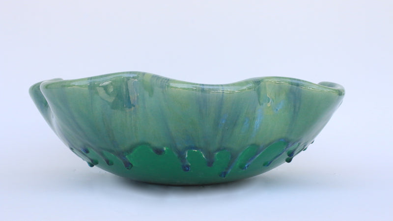 Ceramic Above Vessel Sink, Scallop Rim Design, Bathroom Sink 16 x 5.5 $1,695.00 V44