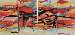 Abstract Four Panel Wall Art - Maui Ceramics