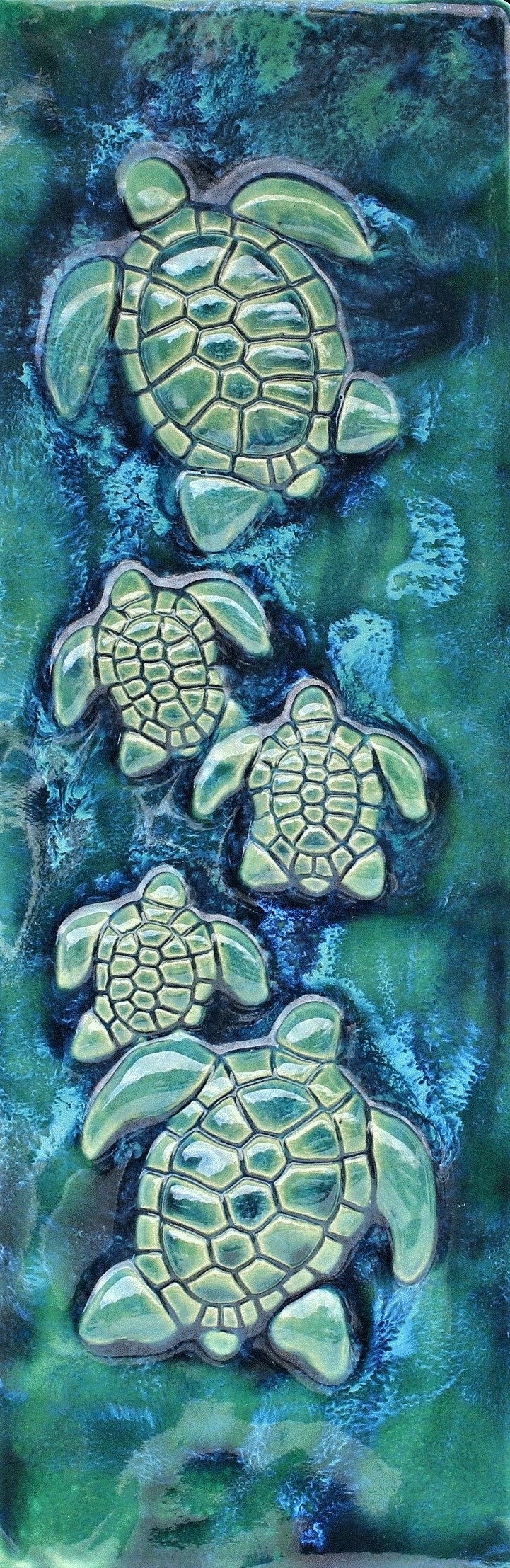 "Home Decor Turtles Plaque 8.5""x23""$595.00 TI26"