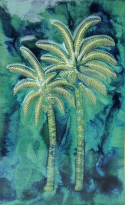 "Wall Art Palm Tree Design 13.5""x21.5"" LP09"