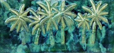 Ceramic Palm Tree Kitchen Backsplash Tile, Palm Tree Bathroom Tile, Hawaii Art - Maui Ceramics