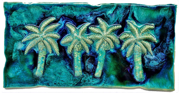 "Bathroom Tile Palm Trees Design 8.5""x17.5"" MP01-A $295.00"