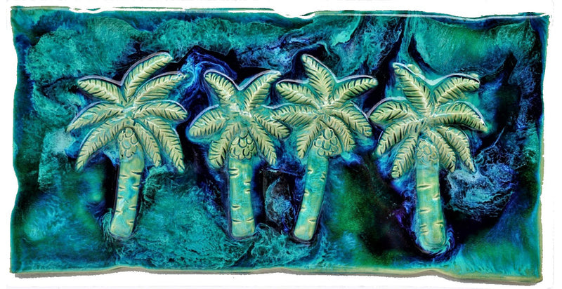 "Bathroom Tile Palm Trees Design 8.5""x17.5"" MP01-A"