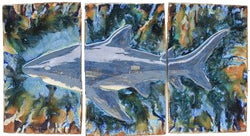 "Wall Art 3 Panel Shark Design 30.5""x21.5"" LP39 $995.00"