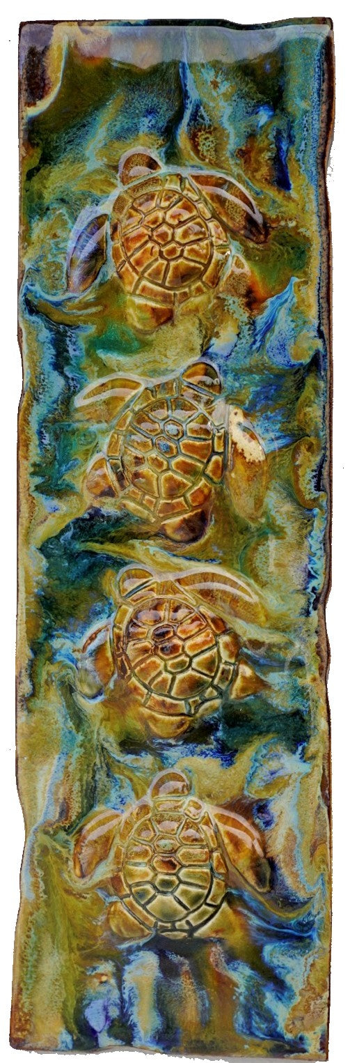 Beach Turtle Decor - Made on Maui Turtle - Tropical Hawaii Art - Turtle Gifts - Maui Ceramics