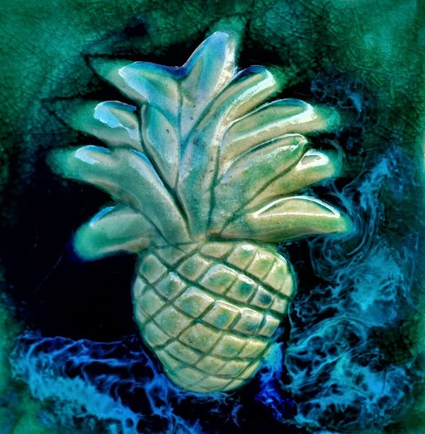 "Backsplash Tile Pineapple 6""x6"" TP23"