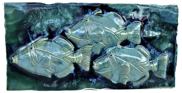 Ceramic Fish Kitchen Backsplash, Humuhumunukunukuapua 'a Wall Hanging - Maui Ceramics