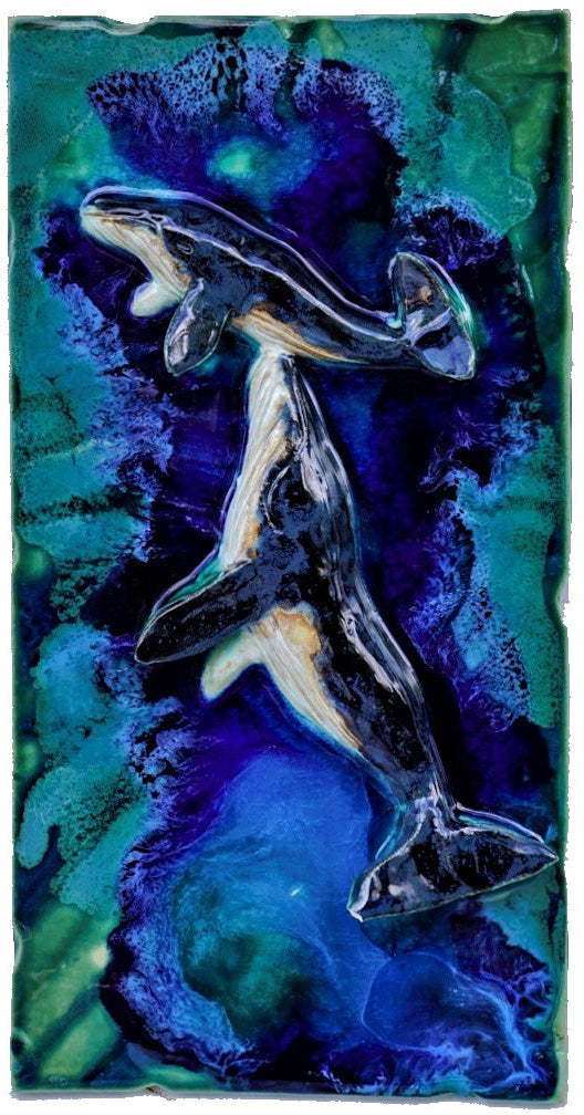 "Tile Maui Humpback Whale's 8.5""x17.5"" MP02"