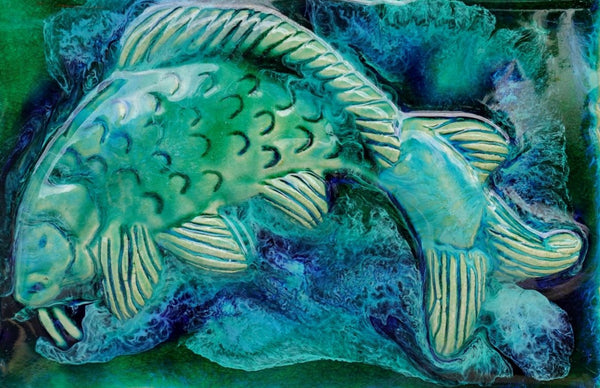 Koa Fish Backsplash hi Tile - Maui Ceramics