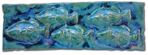 "Humuhumunukunukuapua'a Fish Wall Plaque 10""x23"" LP35"