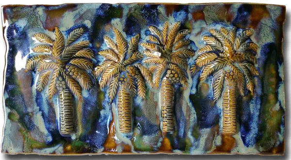 Ceramic Palm Tree Kitchen Backsplash Tile, Palm Tree Bathroom Tile, Palm Tree Art - Maui Ceramics