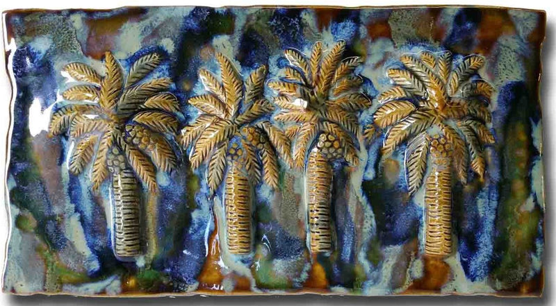 "Bathroom Tile Palm Trees Design 8.5""x17.5"" MP15 $295.00"