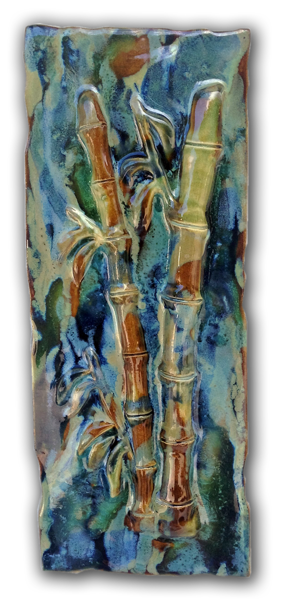"Wall Art Bamboo Design 7""x17.5"" MP14 $195.00"