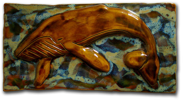 "Maui Humpback Whale Plaque 8.5""x17.5"" MP22 $295.00"