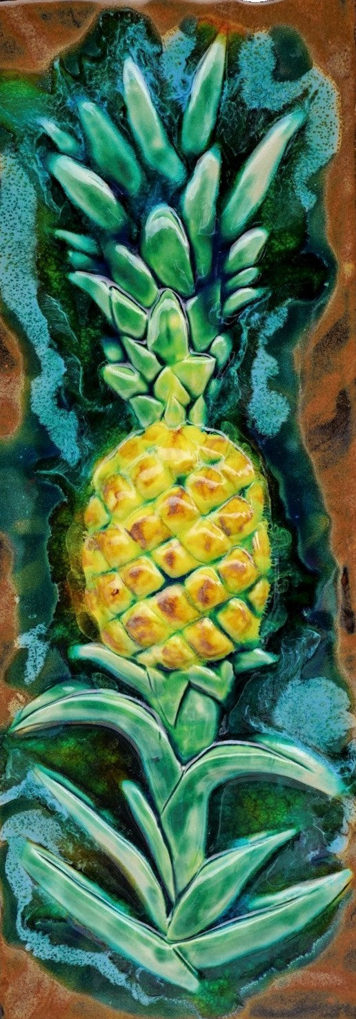 "Pineapple Wall Hanging Plaque 8.5""x23"" LP43-A $695.00"