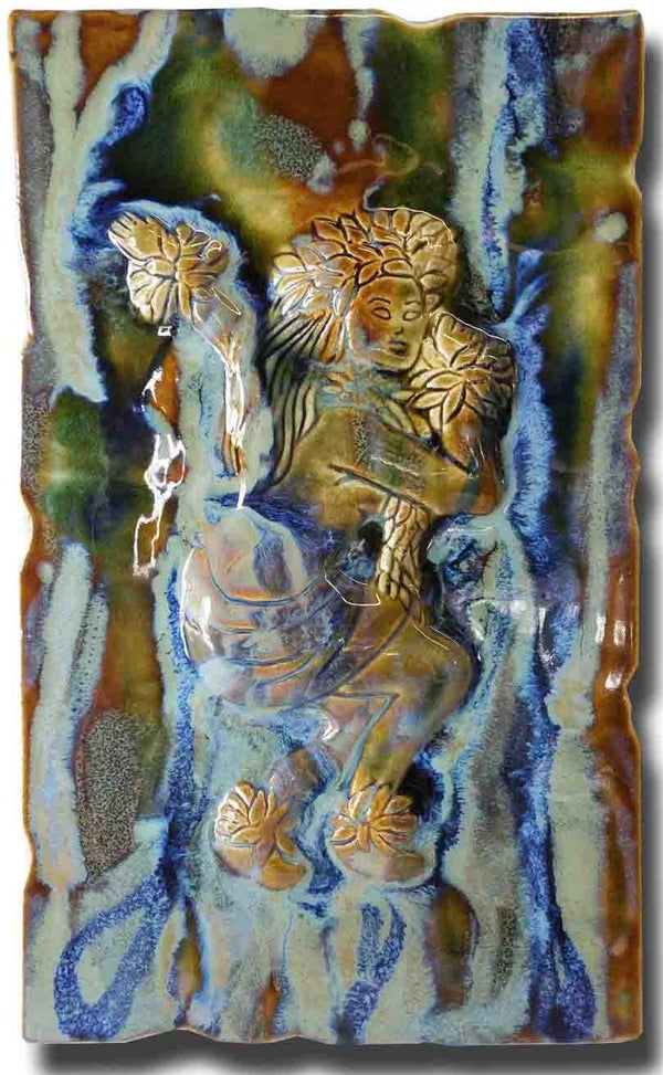 "Hawaiian Female Hula Dancer Wall Plaque 10""x18"" MP36 $295.00"