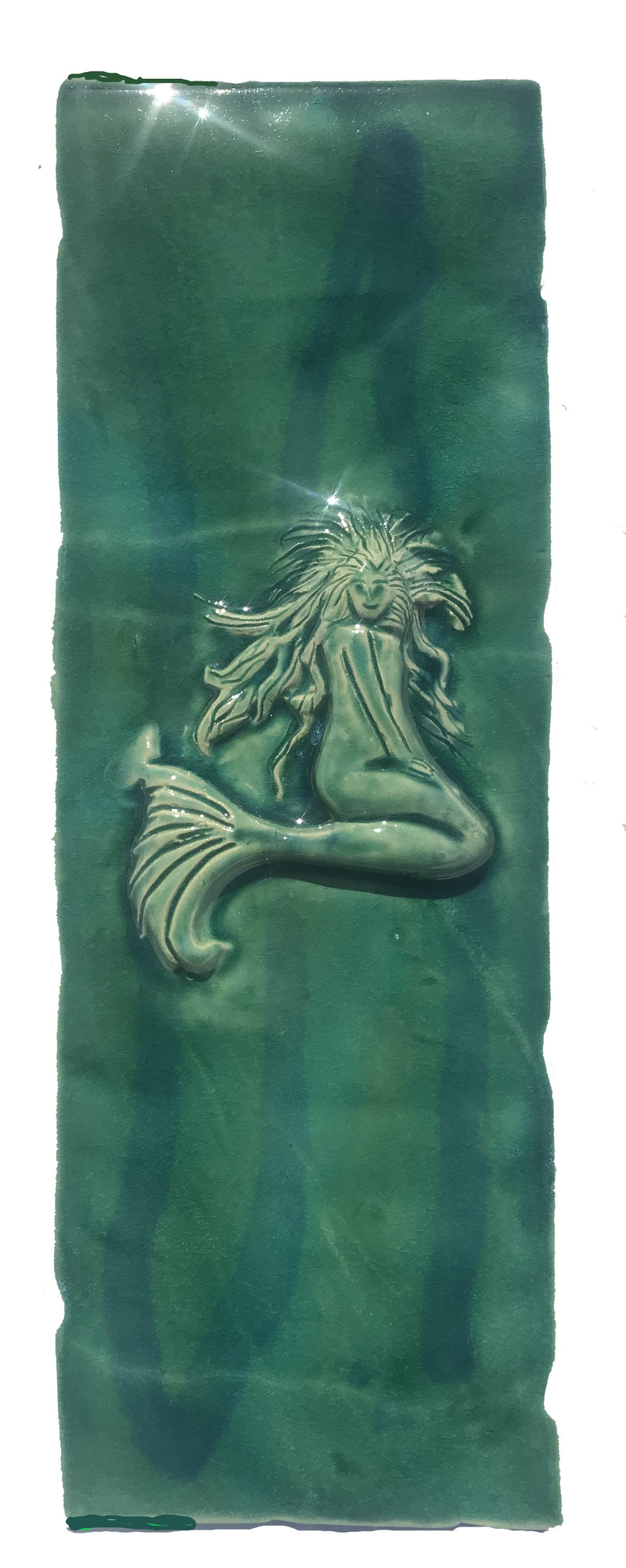 Ceramic Mermaid Design for Kitchen Backsplash Tile, Bathroom Tile, Wall Hanging 6x6x.5, $45.00 TP46