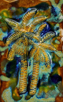 "Wall Hanging Palms Trees Design 7""x10"" SP45 $120.00"