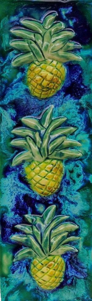 "Sweet Maui Pineapple Plaque 6.5""x17.5"" MP86 $195.00"