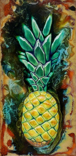 "Pool Tile Pineapple Design 8.5""x17.5"" MP88"