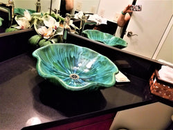 Bathroom Sink Scallop Green P03