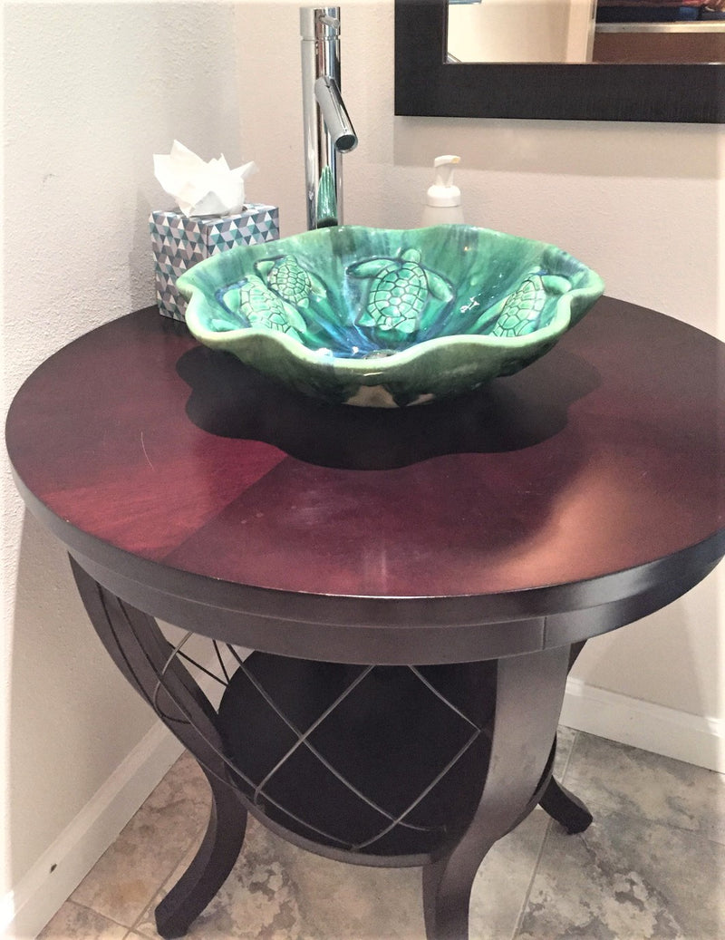 Ceramic Above Vessel Sink, Double Vanity Sink, Modern Bathroom Porcelain Sink 18x5.5 $1,995.00 SI18