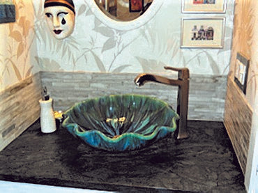 "Handmade Ceramic Bathroom Sinks 18.5""x5.5"" P26"