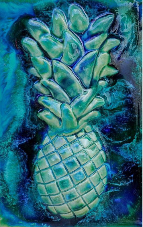 Ceramic Pineapple Design Tile for Kitchen Backsplash, Bathroom Pineapple Tile - Maui Ceramics
