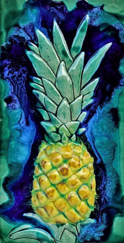 Ceramic Pineapple Design Tile for Kitchen Backsplash,Pineapple Art - Maui Ceramics